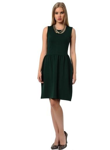Asymmetry Kolsuz Kloş Elbise Yeşil